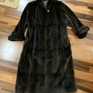 Jackets & Blazers - Shaved Mouton natural fur coat
